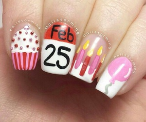 birthday, cute, and nail art image