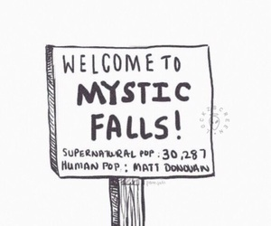 the vampire diaries, vampire, and mystic falls image