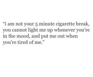 quotes, sad, and cigarette image