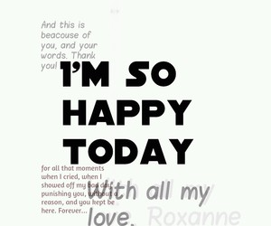 happy, thank you, and today image