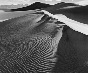black and white, sand, and art image