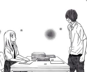 manga, nakanmon, and monochrome image