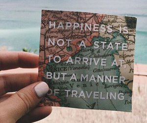 quotes, travel, and happiness image