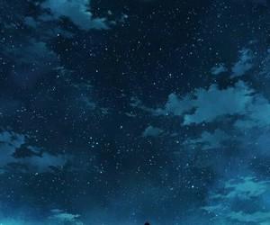 night, anime, and stars image
