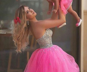 dress, pink, and baby image