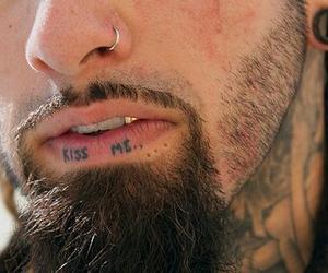 tattoo, boy, and kiss me image