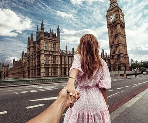 london, couple, and travel image