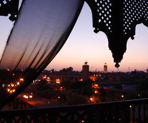 sunset, city, and light image