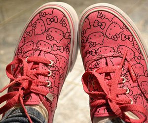 hello kitty, vans, and shoes image