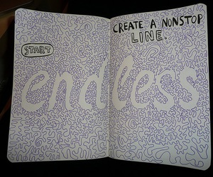 wreck this journal, endless, and book image