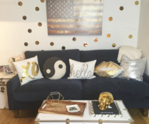 couch, home decor, and living room image