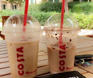 coffee, costa, and happy hour image