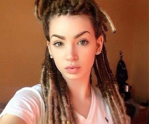 girl, dreads, and long hair image