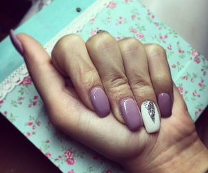 lila, nails, and spring image