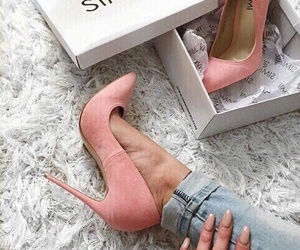 shoes, fashion, and pink image