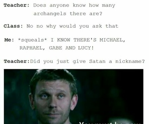 supernatural, funny, and lucifer image