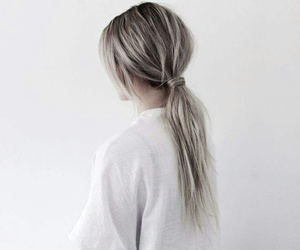hair, hairstyle, and silver image
