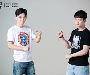 Chen, exo, and d.o image