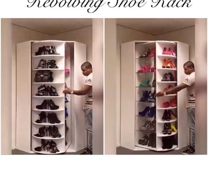 luxury, shoe rack, and shoes image