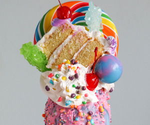 food, cake, and candy image