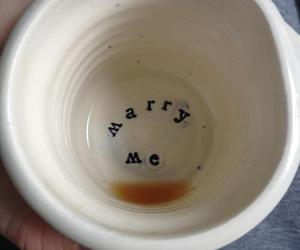 love, marry me, and coffee image