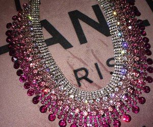 necklace, pink, and diamond image