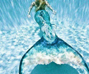 mermaid, blue, and fantasy image