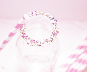 pink, straw, and cute image