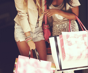 girl, shopping, and friends image