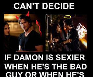 bad, damon, and Vampire Diaries image