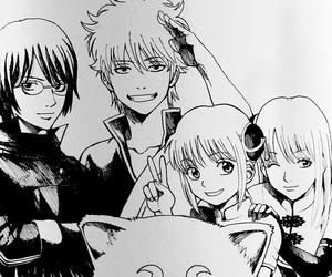 gintama, manga, and monochrome image