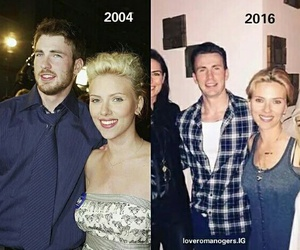 Scarlett Johansson and chris evans image