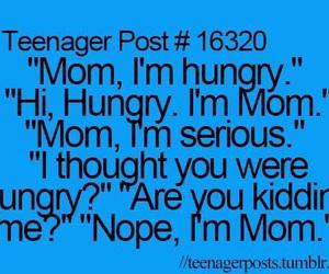 funny, mom, and teenager post image