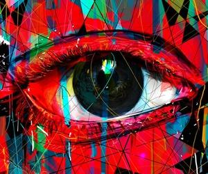 arte ojo rojo lagrimas image