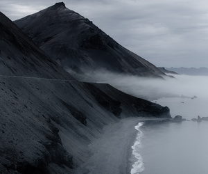 nature, black, and mountains image