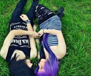 scene, emo, and couple image