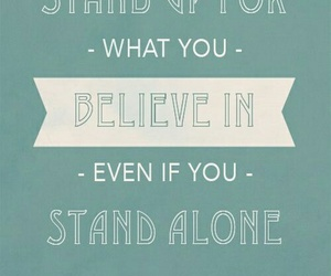 quote, alone, and believe image