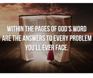 answer, believe, and bible image