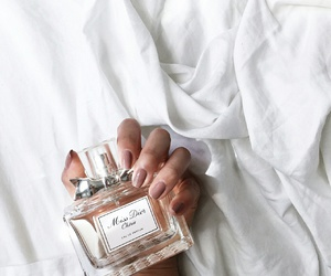 miss dior, nails, and perfume image