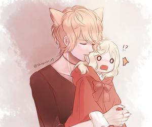 anime, girl, and boy image