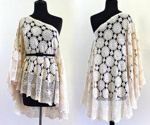 1970s, shawl, and white image