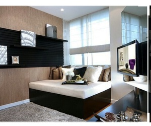 bedroom, cama, and design image