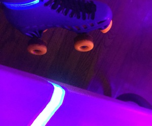 glow and roller skating image