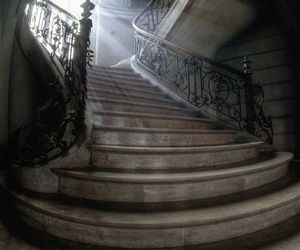 stairs, architecture, and light image