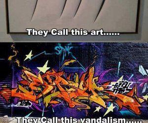 art, funny, and vandalism image