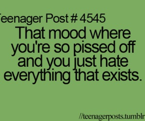 teenager post, hate, and mood image