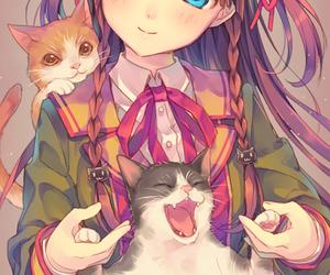 anime, anime girl, and pixiv image