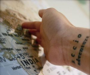 harry potter, tattoo, and travel image