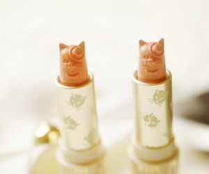 cat, lipstick, and fashion image
