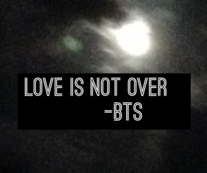 bts and love is not over image